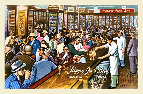 (Posterazzi Poster Print Collection Postcard Promoting Sloppy Joe's Bar in Havana Cuba Curt Teich and Company, (18 x 24), Multicolored)