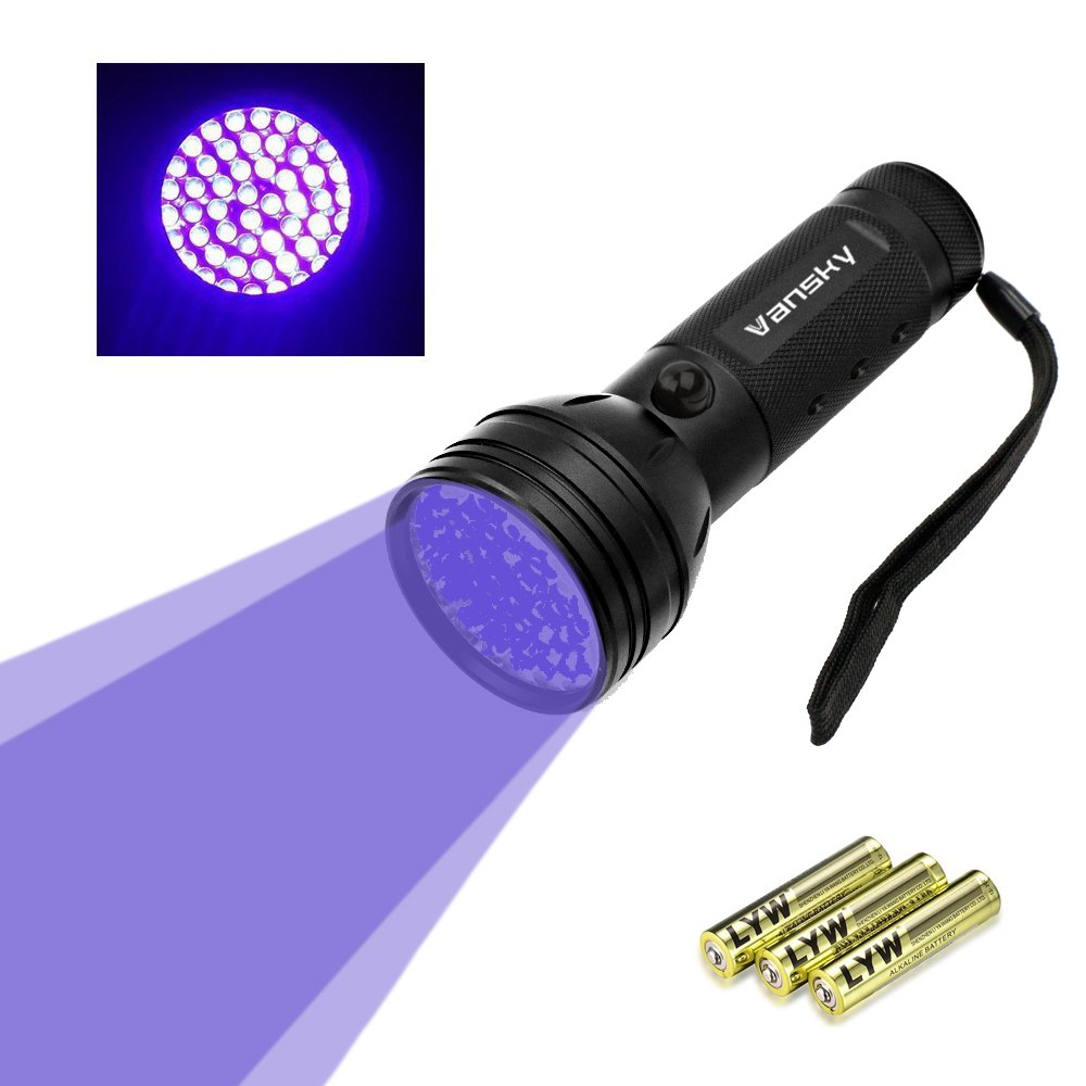 Vansky UV Flashlight Black Light For Pet Urine Detection51 LED Ultraviolet De...
