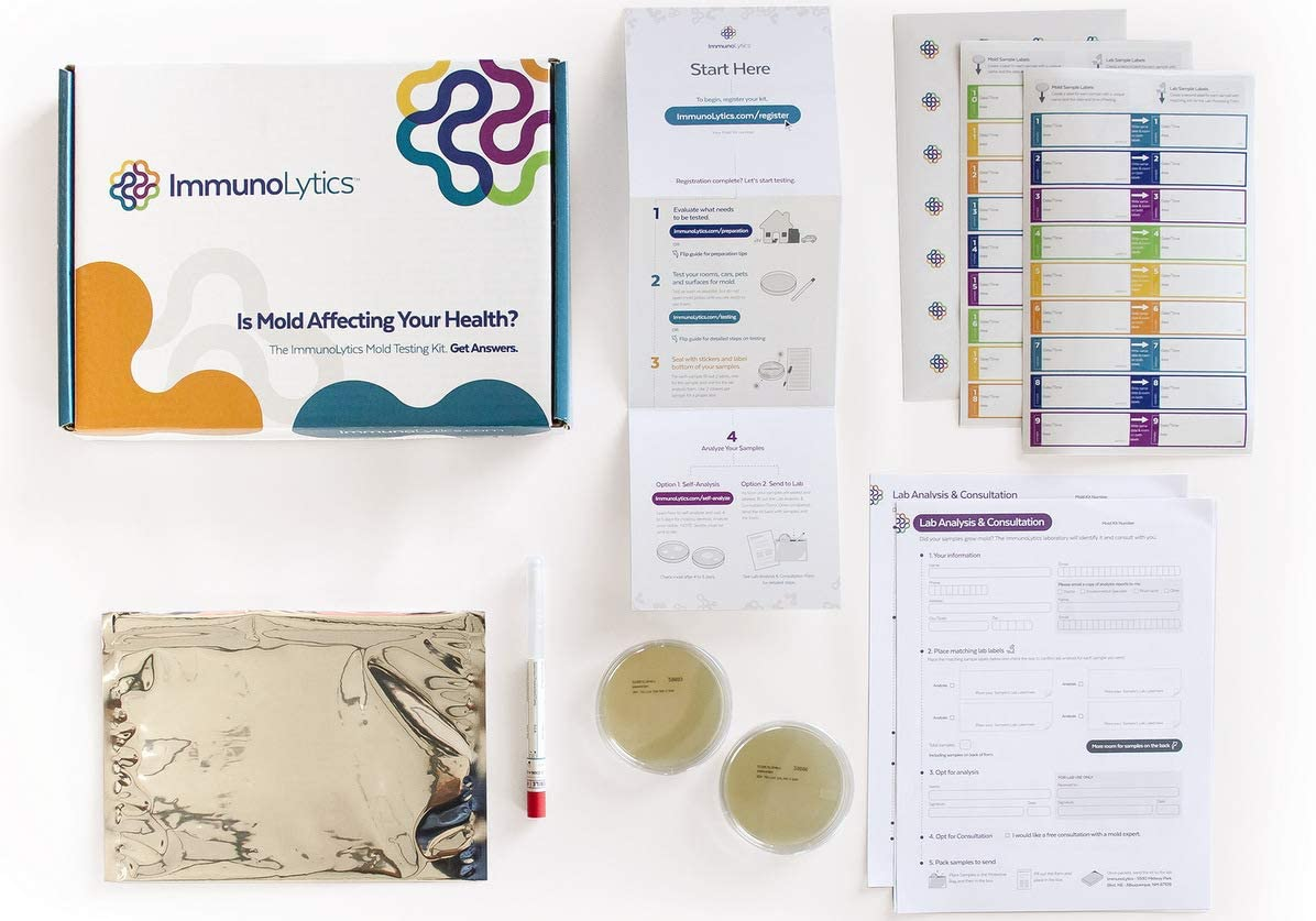 ImmunoLytics DIY Mold Test Kit for Home - Easy to Use Professional Testing Kit - Individual Room Screening Package - Includes Lab Analysis (2 Rooms/Plates)