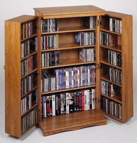 Amazon Leslie Dame Cd 612es Solid Oak Multimedia Storage