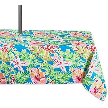 Amazon Com Festive Stripe Flannel Backed Vinyl Tablecloth