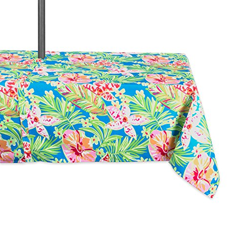DII Outdoor Tablecloth with Zipper, 60x120 w, Summer Floral