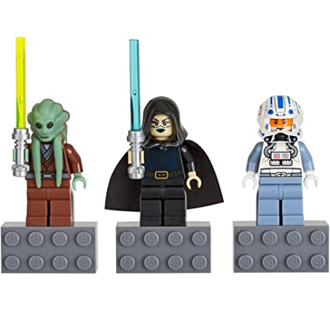 Amazon.com: LEGO Star Wars Minifigure Magnet Set 852947 Kit Fisto ...