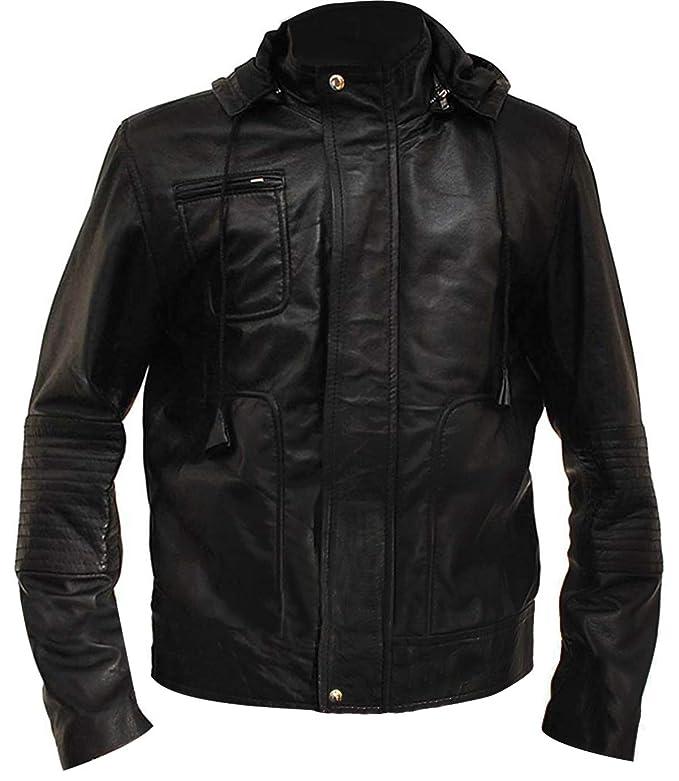 Amazon.com: Chaqueta con capucha de piel para hombre, estilo ...