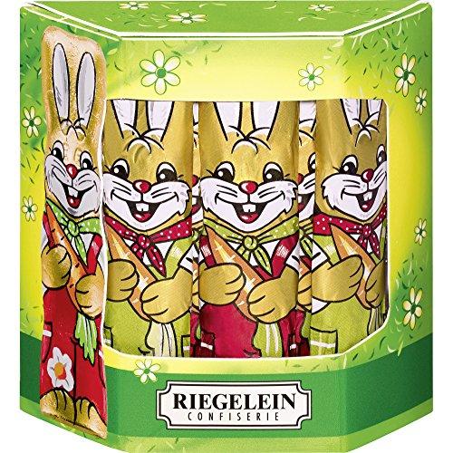 Riegelein Solid Milk Chocolate Easter Bunnies 10 PC Box - 125gram