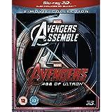 Avengers Age Of Ultron/Avengers Assemble Doublepack [Blu-ray 3D] [2015] [Region Free]