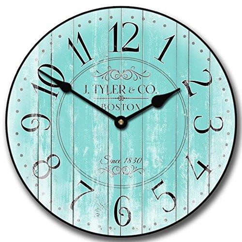 Harbor Turquoise Wall Clock, 10