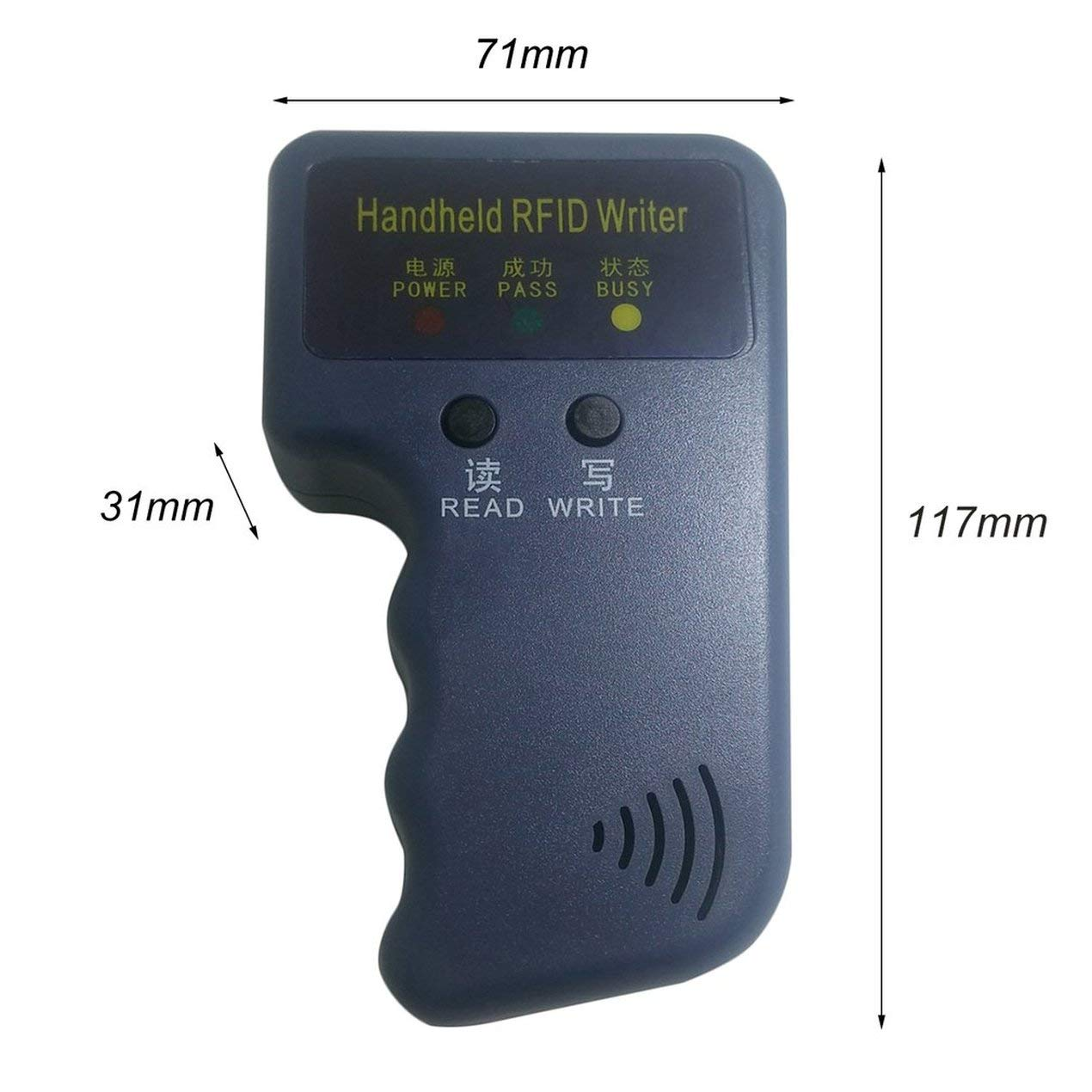 Access control card reader,Handheld 125Khz EM4100 RFID Copier Writer Duplicator Programmer Reader Compatible With EM4305 T5577 CET5200 EN4305