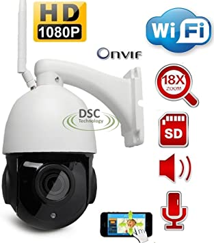 HD 1080P IP PTZ Camera Onvif Network 4X Zoom Smart IR Night Vision IP67 H.265