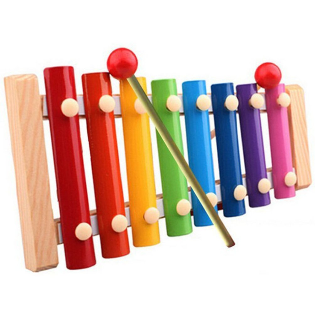 Iusun Wooden Xylophone Toy Kids Baby Musical Toys Children Development Educationnal Instrument with Wood Stick (A) 16816122606_ZXJ