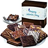 Fairytale Brownies Admin Day Dozen Gourmet Food Gift Basket Chocolate Box - 3 Inch Square Full-Size Brownies - 12 Pieces