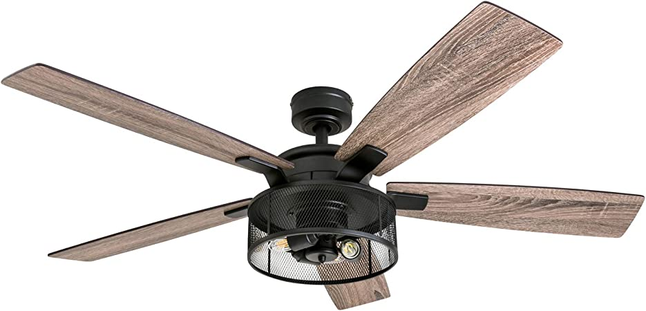 Honeywell 50614-01 Carnegie 52 - Ventilador de techo, color negro ...