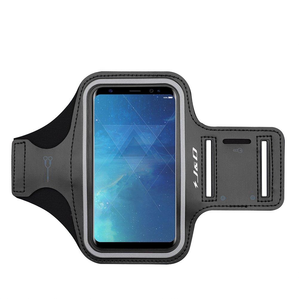 Conexi/ón Auriculares Mientras Ejercicios y Carreras Ranura para Llaves Brazalete Deportivo para Samsung Galaxy S8 Plus Negro J/&D Compatible para Galaxy S8 Plus Brazalete
