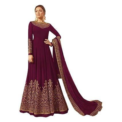 fa15b36806 Amazon.com: Purple Bollywood Muslim Silk Anarkali Long Heavy Border Net  Dupatta Gown Pakistani Dress Salwar Kameez Suit 7188: Home Improvement