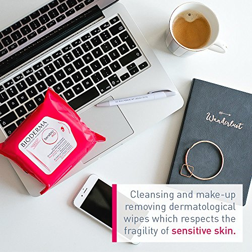 41g%2B0klEknL Bioderma Sensibio H2O Biodergradable Facial Cleansing and Makeup Remover Wipes for Face and Eyes - 25 count