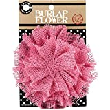 Canvas Corp CVS2596 Burlap Flower, 4-Inch, Pink