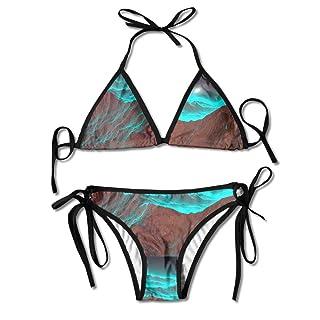 Mountain And Moon Womens' Retro Adjustable Swimsuit Bikini Set
