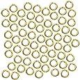 Beadaholique 100-Piece Open Jump Rings, 4mm, 20-Gauge, 22K Gold