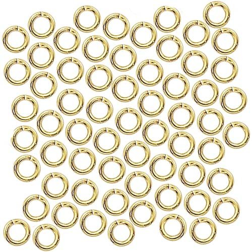 - Beadaholique 4mm 20 Gauge Open Jump Rings 22k Gold Plated (100)