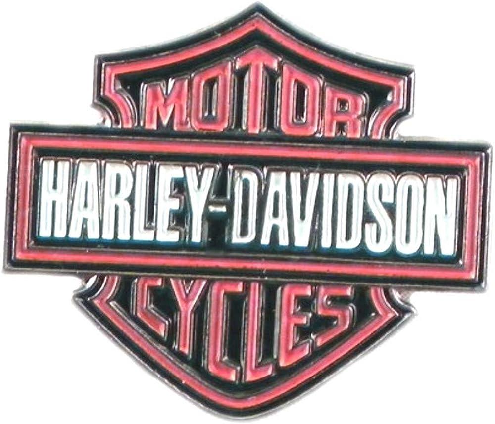 Pin de metal esmaltado, insignia de Harley Davidson color rosa