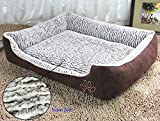 Dog Bed with Washable Cover - Jasonwell Rectangle Warm Super Soft Plush Dog Bed,Puppy Pets,Dogs and Cats Cushion Pillow Mat with Removable Washable Cover(L)