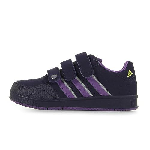 975ab877a adidas LK Trainer 4N CF - Botas de Piel para niña Morado Violeta   Amazon.es  Zapatos y complementos