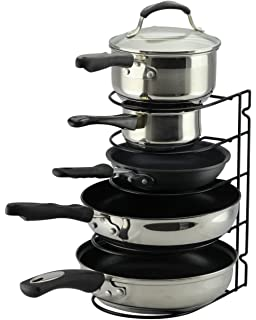 Amazon.com: Cook N Home Pot Pan Rack Cabinet and Pantry Organizer ...
