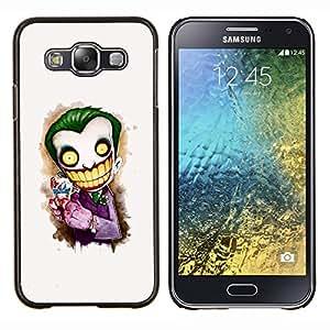 EJOOY---Cubierta de la caja de protección para la piel dura ** Samsung Galaxy E5 E500 ** --Cara del payaso blanco Scary dientes grandes Esqueleto