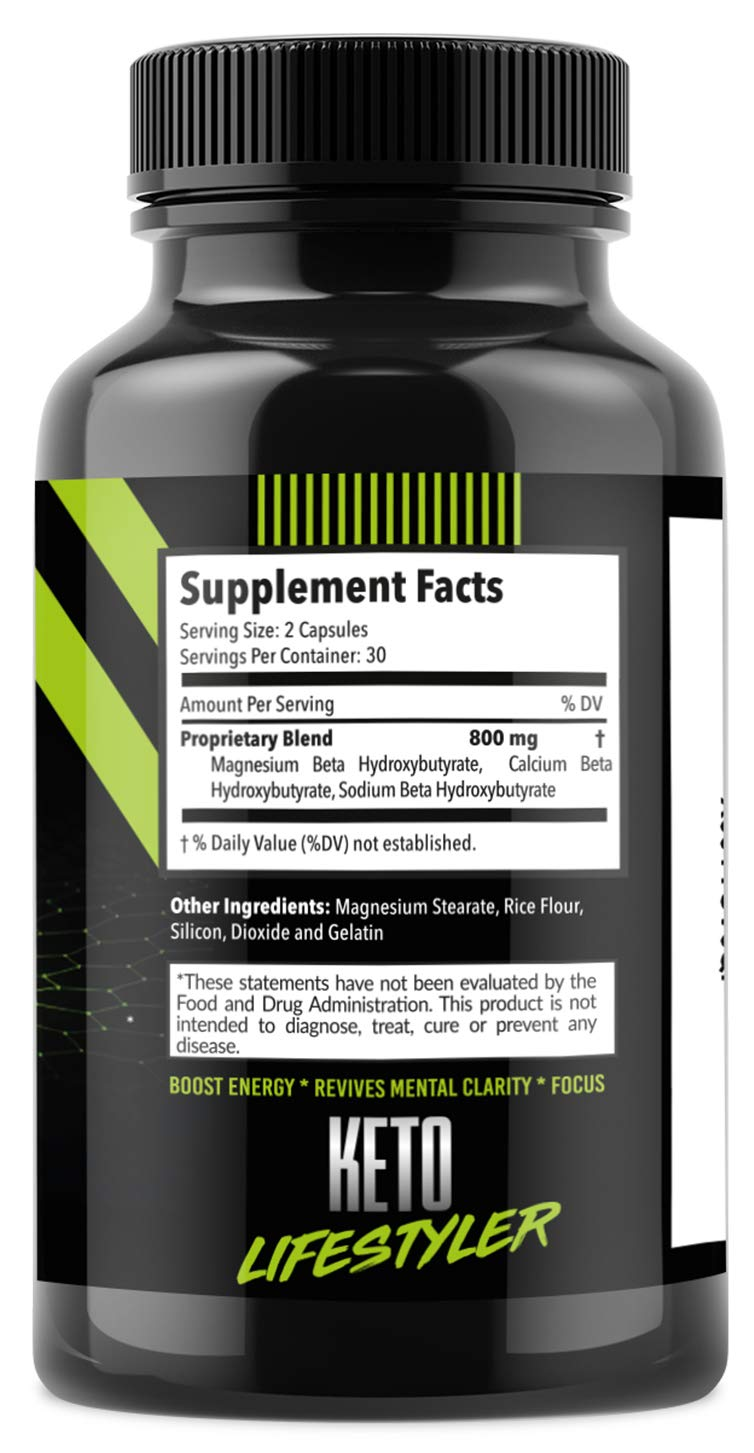 Keto Diet Pills Appetite Suppressant Supplement - Exogenous Ketones Ketogenic Diet Pills - Boosts Metabolism and Supplies Energy- 60 Capsules by Keto Lifestyler (Image #6)