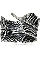 M.Cohen Handmade Designs Men's Feather Adjustable Ring