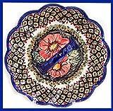 Boleslawiec Polish Pottery Deviled Egg Serving Plate Eva's Collection''Red Garden''