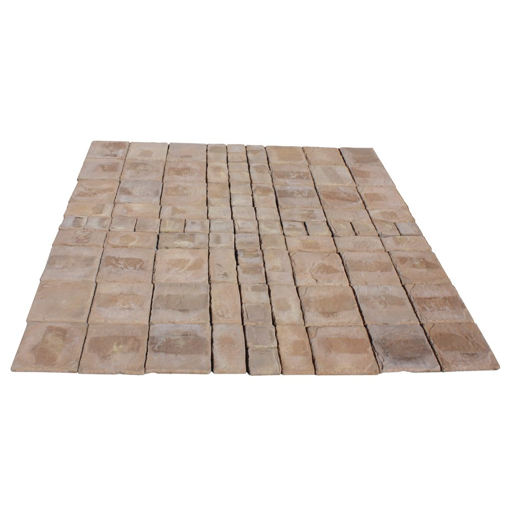 Cass Stone 100 sq. ft. Brown Concrete Paver Kit by Natural Concrete Products Co.