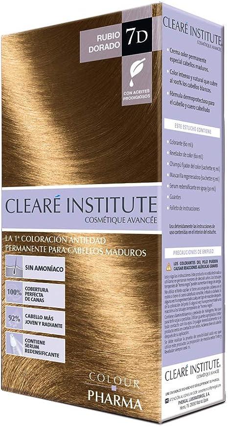 Colour Pharma  Tinte Sin PPD ni Amonicaco   Coloración Antiedad   100% Cobertura de Canas Rebeldes, Con Serum Redensificante   7D. Rubio Dorado   ...