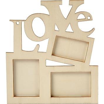 Greedeko Bilderrahmen Zum Bemalen Aus Holz Love 20x16cm Collage
