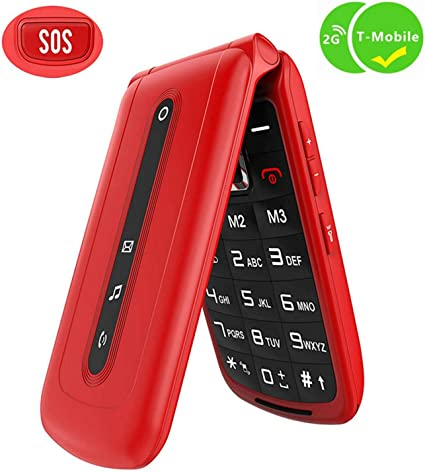 Amazon.com: Ushining - Teléfono móvil con tapa y botón SOS ...
