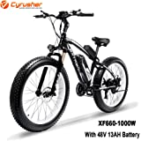 Cyrusher XF660 1000W Electric Bike 264 inch Snow Beach Fat Tire Mountain Bike 48V 13AH Hydraulic Disc Brakes 7 Speeds Ebike