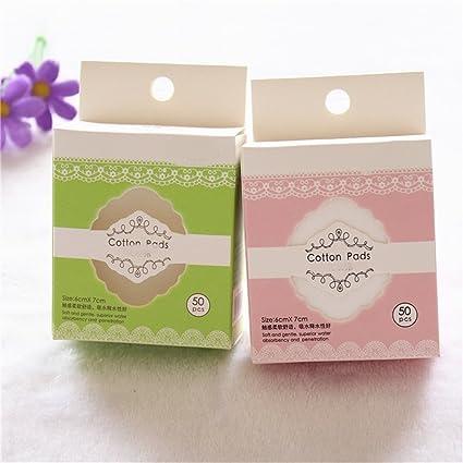 Removedor de maquillaje Almohadillas cosméticas orgánicas de Cottton Desinfectante facial libre de la pelusa de la