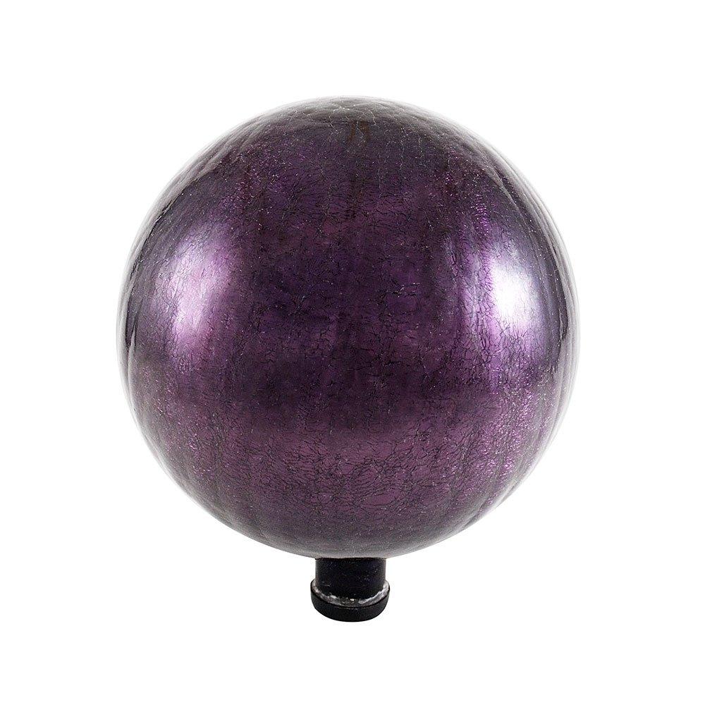 Achla Designs 12-Inch Crackle Gazing Globe Ball, Plum