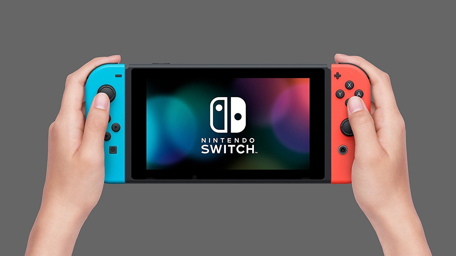 Amazon Com Nintendo Switch With Neon Blue And Neon Red Joy Con Eu Video Games