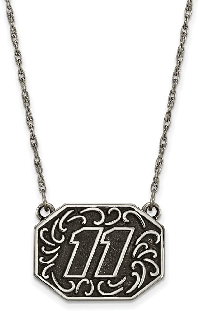 Width = 24mm Sonia Jewels Solid Stainless Bali Type Split Chain Pendant 11 18