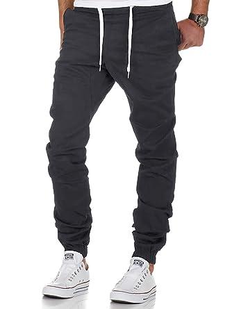 3b9c717cd53e5 Homme Jogging Sport Survêtement Coton Slim Fit Pantalon Jogging (Gris,  Small)