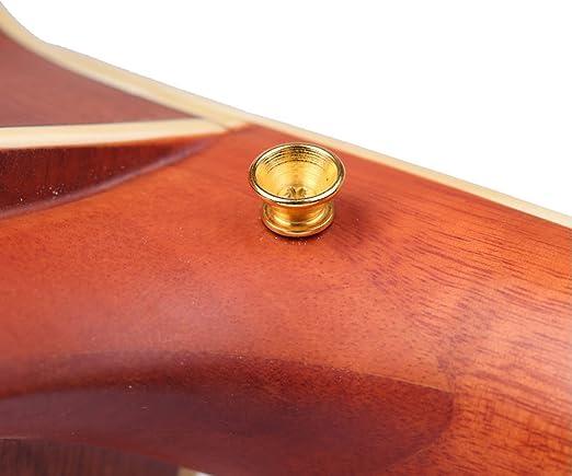 El Kit de Botones para Cerraduras de Correa de Guitarra Incluye 3 Botones de Correa de Guitarra Clavijas Finales y 4 Pares de Bloques de Correa de Goma para Guitarra Ac/ústica El/éctrica Multicolor