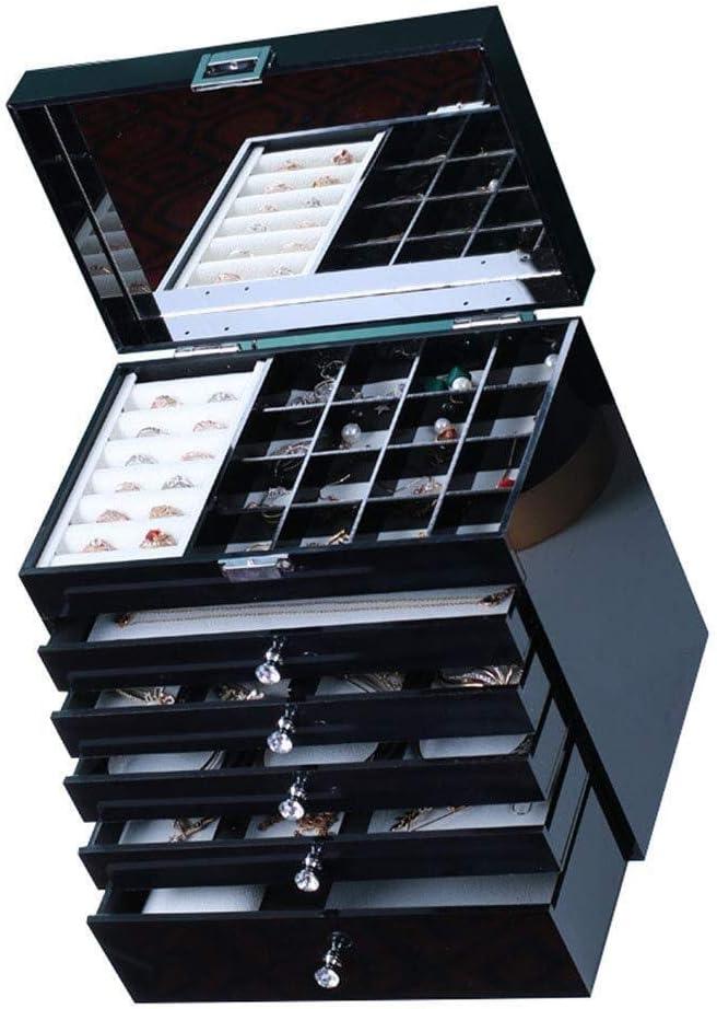 ジュエリー収納ケース ジュエリーボックスアクリル大容量ジュエリーチェストクリスタルハンドル付きジュエリーオーガナイザーリングイヤリングネックレス 大容量の宝石箱 チャン・ミン20200318