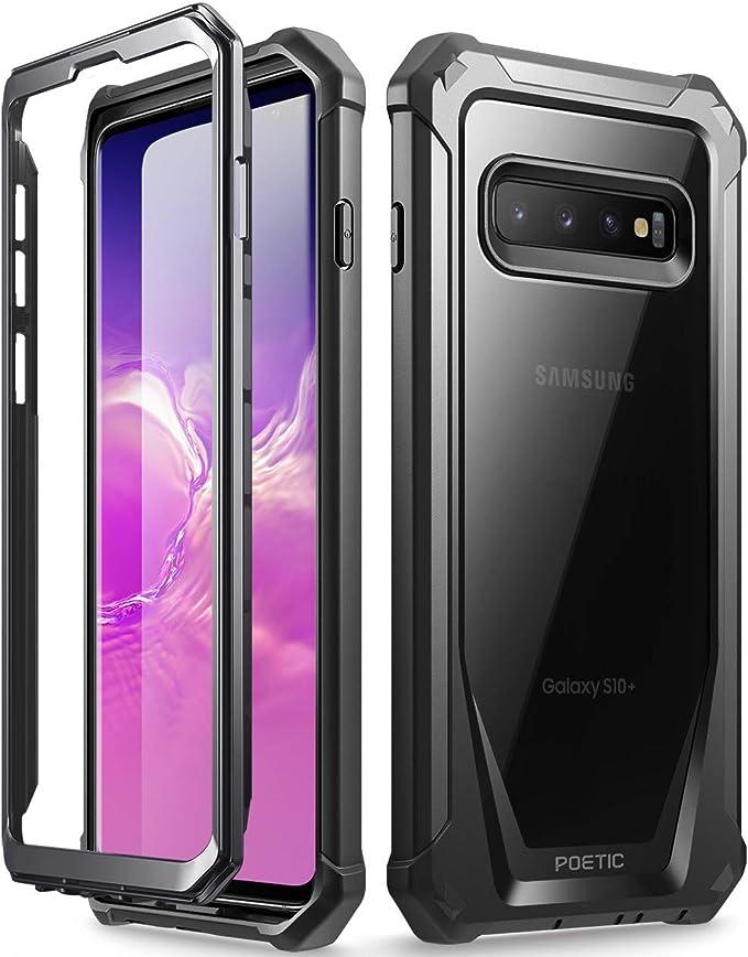 Poetic Funda Galaxy S10 Plus, Carcasa Guardián para Samsung Galaxy S10 Plus [Resistente a los Rayones] Cuerpo Robusto Híbrida y Protector de Pantalla para Samsung Galaxy S10 Plus, Negra: Amazon.es: Electrónica