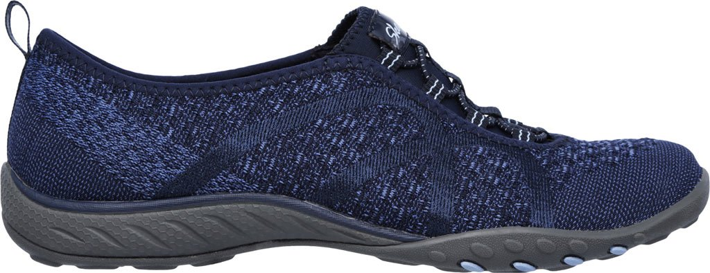 Skechers Women's Relaxed Fit Breathe Easy Fortune-Knit Slip-On,Navy,US 5 W by Skechers (Image #2)