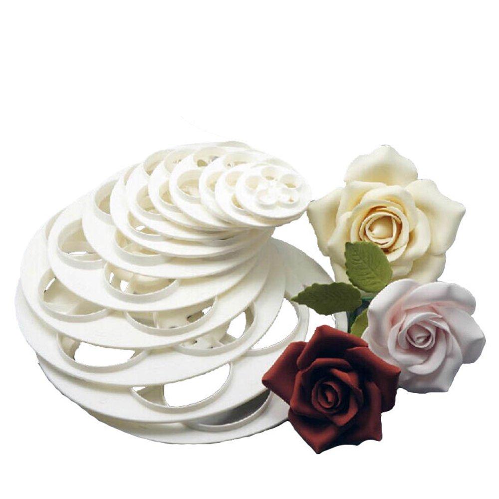 Amazon bluelans 6 x rose flower fondant cake sugarcraft amazon bluelans 6 x rose flower fondant cake sugarcraft decorating mold tools diy cookie cutter kitchen dining izmirmasajfo