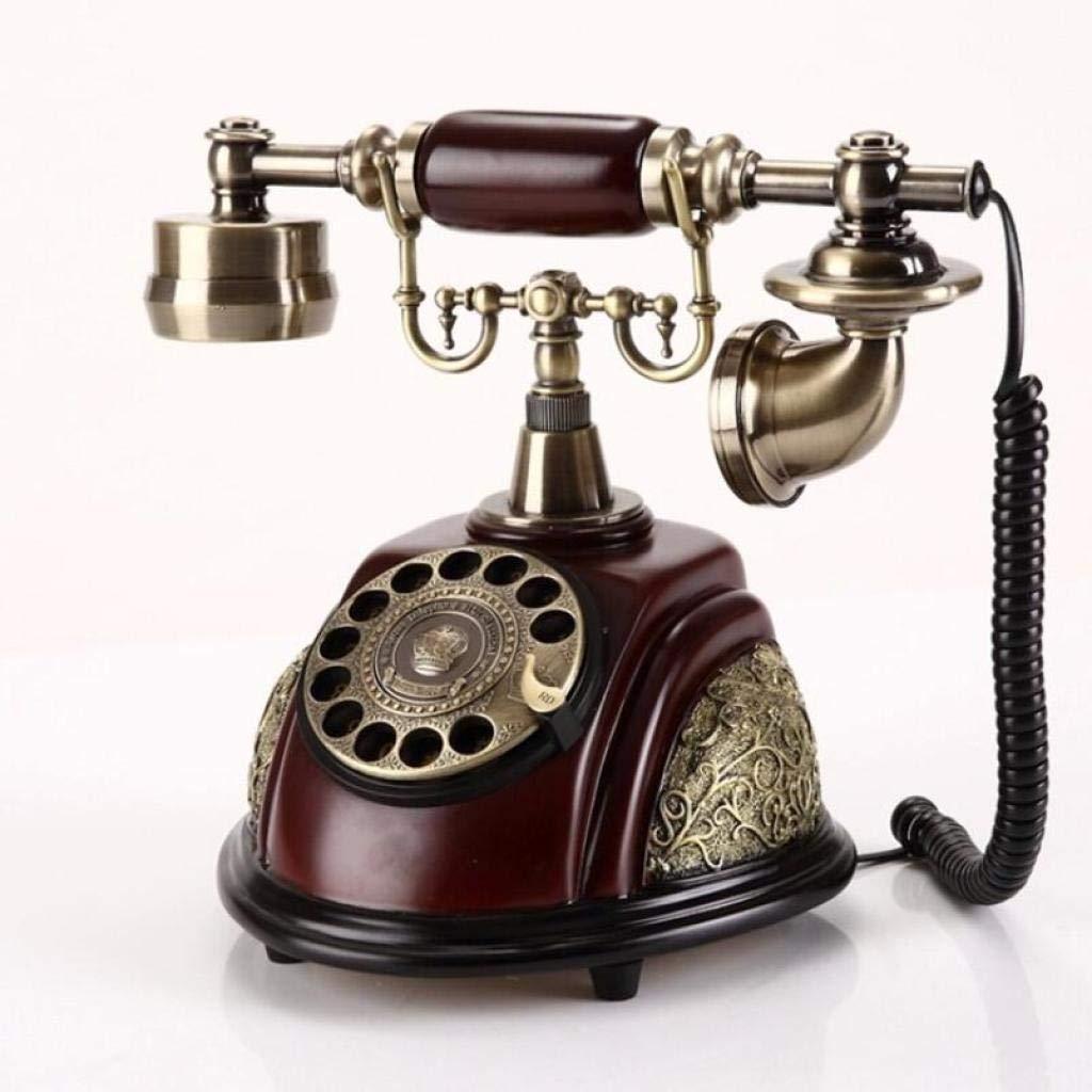 HUYYA アンティーク電話、レトロ電話 アンティーク電話、ハンズフリー機能、家庭、オフィスに適しています,A  A B07RBZ73SN