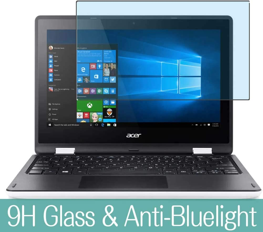 "Synvy Anti Blue Light Tempered Glass Screen Protector for Acer Aspire R3-131T 11.6"" Visible Area 9H Protective Screen Film Protectors (Not Full Coverage)"