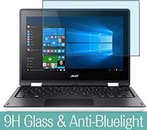 """Synvy Anti Blue Light Tempered Glass Screen Protector for Acer Aspire R3-131T 11.6"""" Visible Area 9H Protective Screen Film Protectors (Not Full Coverage)"""