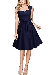 de8944d1f6149b Miusol Retro Hochzeit Cocktailkleid Rockabilly Elegant Vintage Partykleid  Festlich Abendkleid